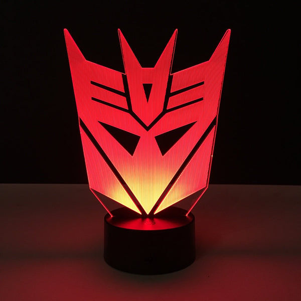 decepticon transformers led lamp