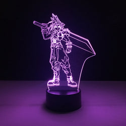 cloud strife final fantasy led lamp