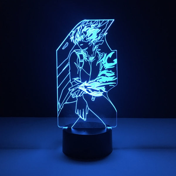 todoroki my hero academia led lamp