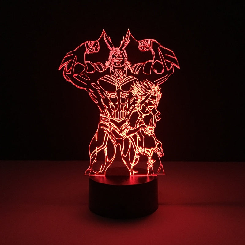 all might my hero academia led lamp
