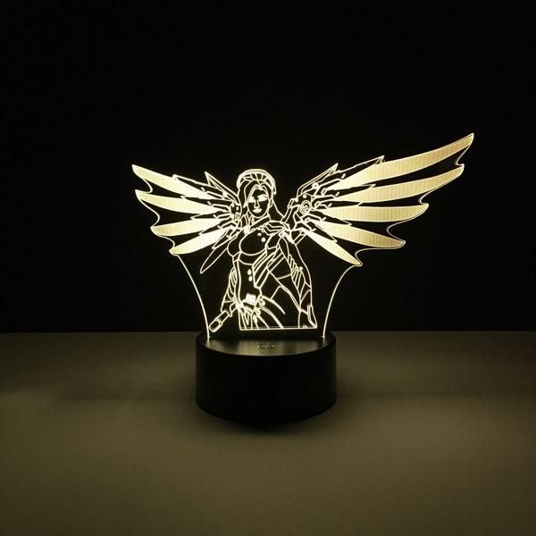 mercy overwatch led lamp