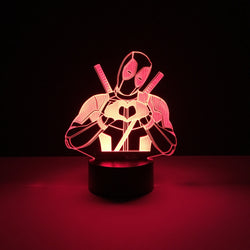 deadpool led lamp