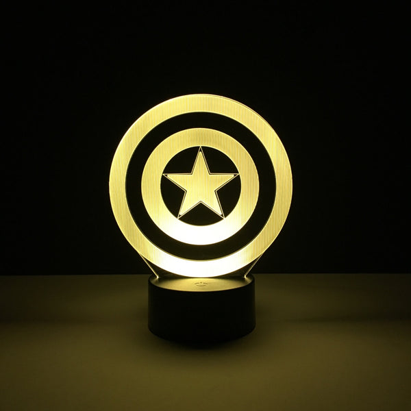 captain america shield led lamp