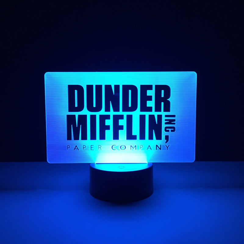 dunder mifflin the office led lamp