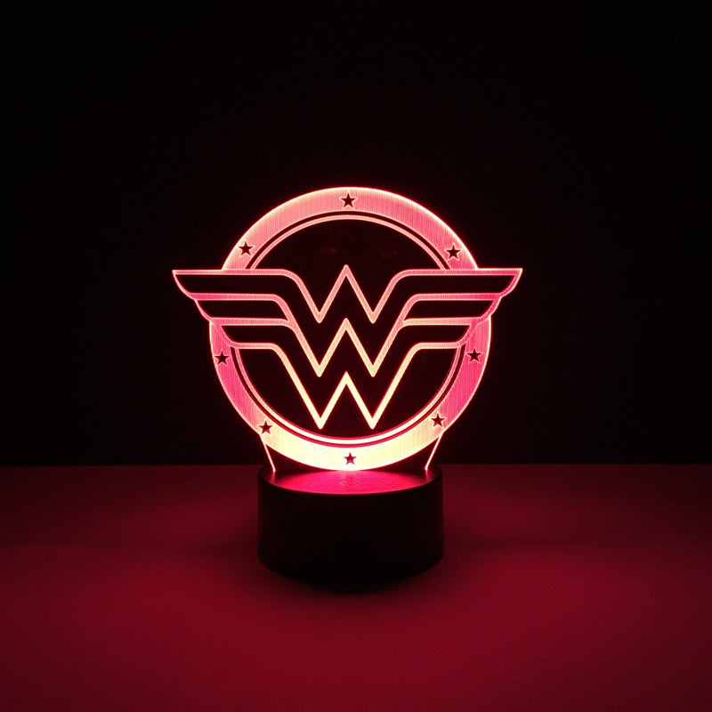 wonder woman led lamp