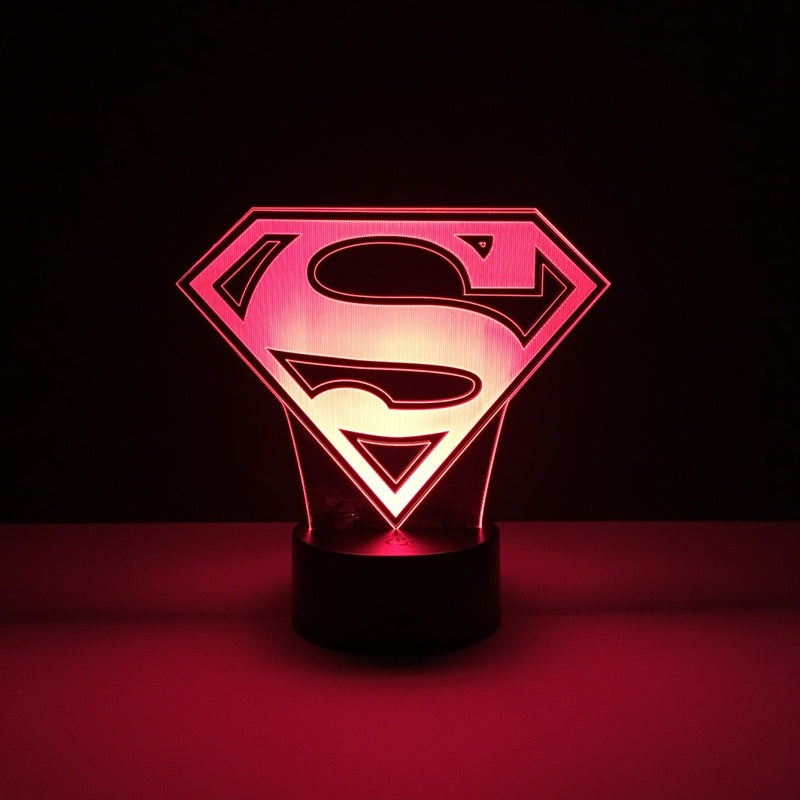 superman led lamp