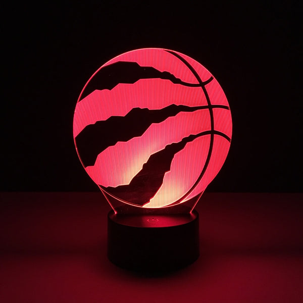 toronto raptors nba led lamp night light