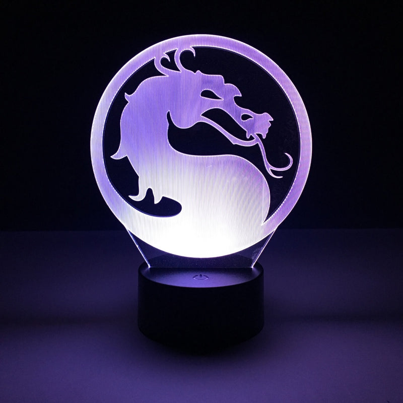 mortal kombat led lamp night light gaming merchandise accessories