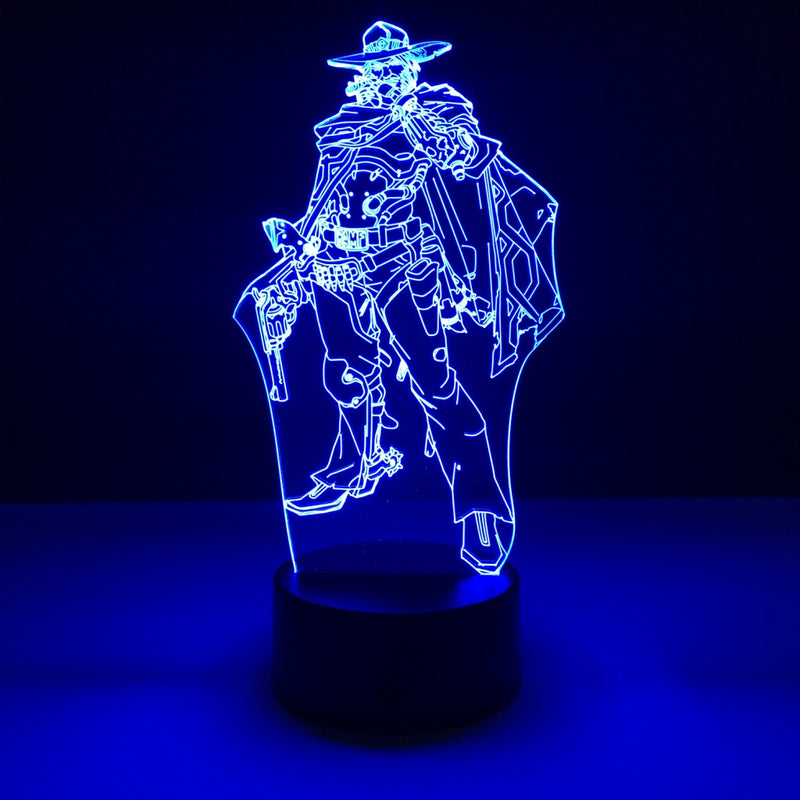 overwatch mccree led lamp night light gaming merchandise accessories
