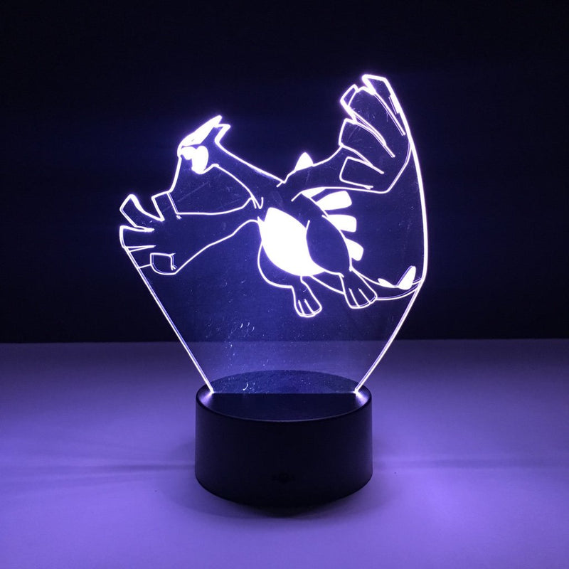 pokemon lugia led lamp night light gaming merchandise accessories