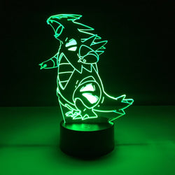 pokemon tyranitar led lamp night light gaming merchandise accessories