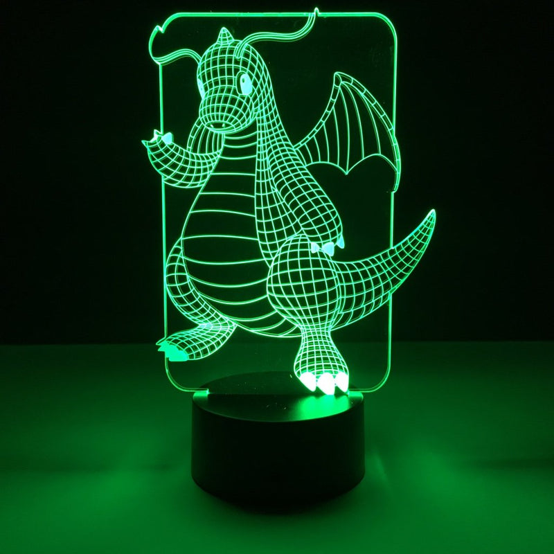 pokemon dragonite led lamp night light gaming merchandise accessories