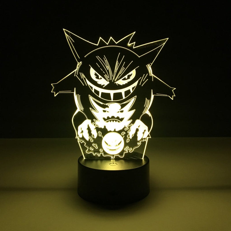 pokemon gengar led lamp night light gaming merchandise accessories