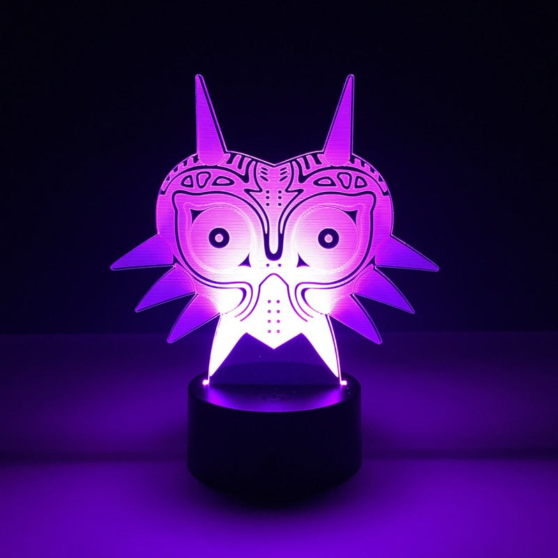 majora's mask led lamp night light gaming merchandise accessories