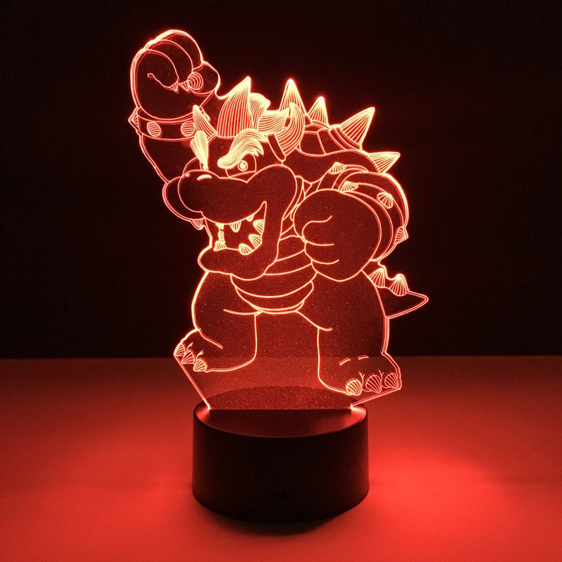 mario bowser led lamp night light gaming merchandise accessories