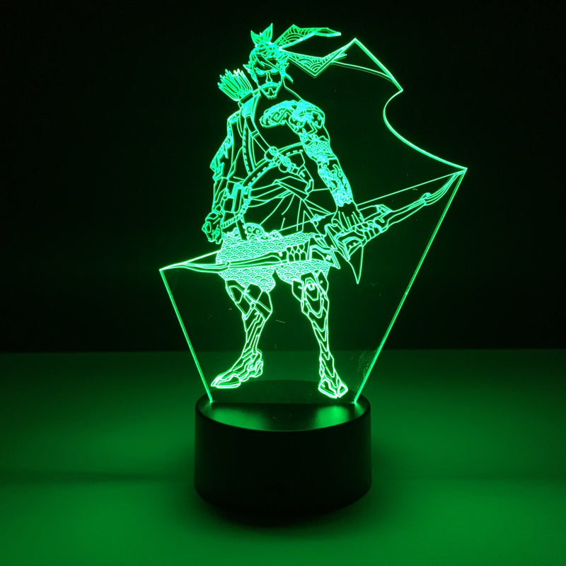 overwatch hanzo led lamp night light gaming merchandise accessories