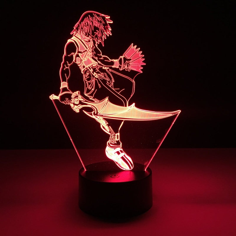 kingdom hearts riku led lamp night light gaming merchandise accessories