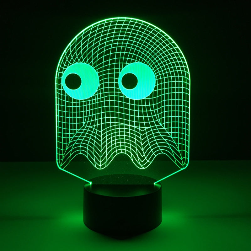 pac man ghost led lamp night light gaming merchandise accessories