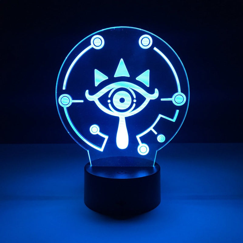 sheikah eye led lamp night light gaming merchandise accessories