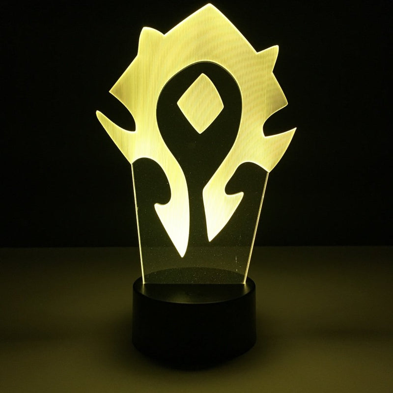 wow world of warcraft horde led lamp night light gaming merchandise accessories