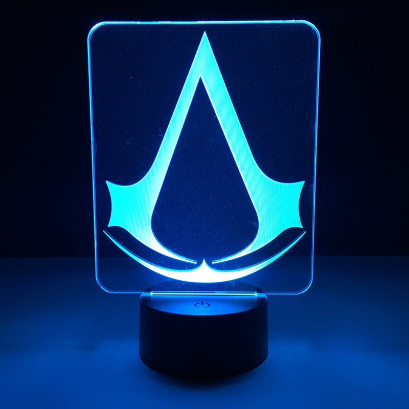 assassins creed led lamp night light gaming merchandise accessories
