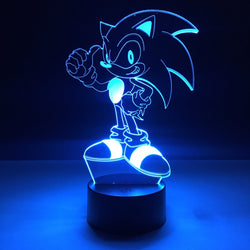 sonic the hedgehog led lamp night light gaming merchandise accessories