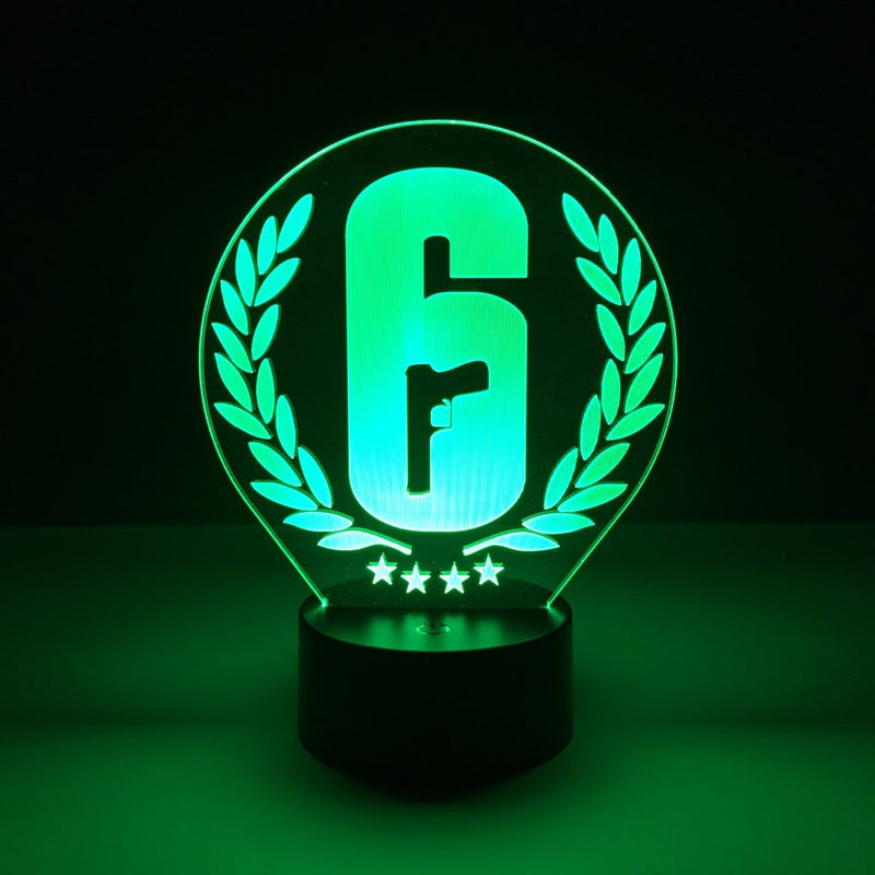 rainbow six siege r6 led lamp night light gaming merchandise accessories