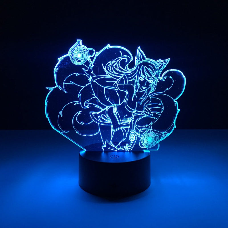 league of legends ahri led lamp night light gaming merchandise accessories