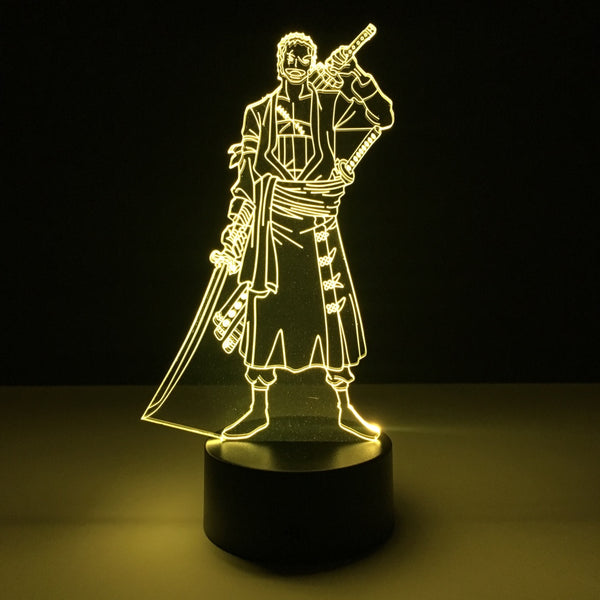one piece zoro led lamp night light