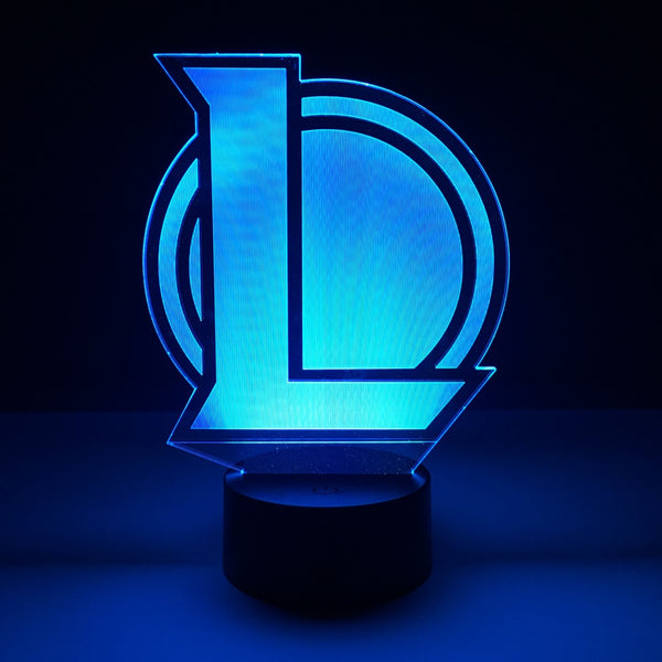 league of legends led lamp night light gaming merchandise accessories