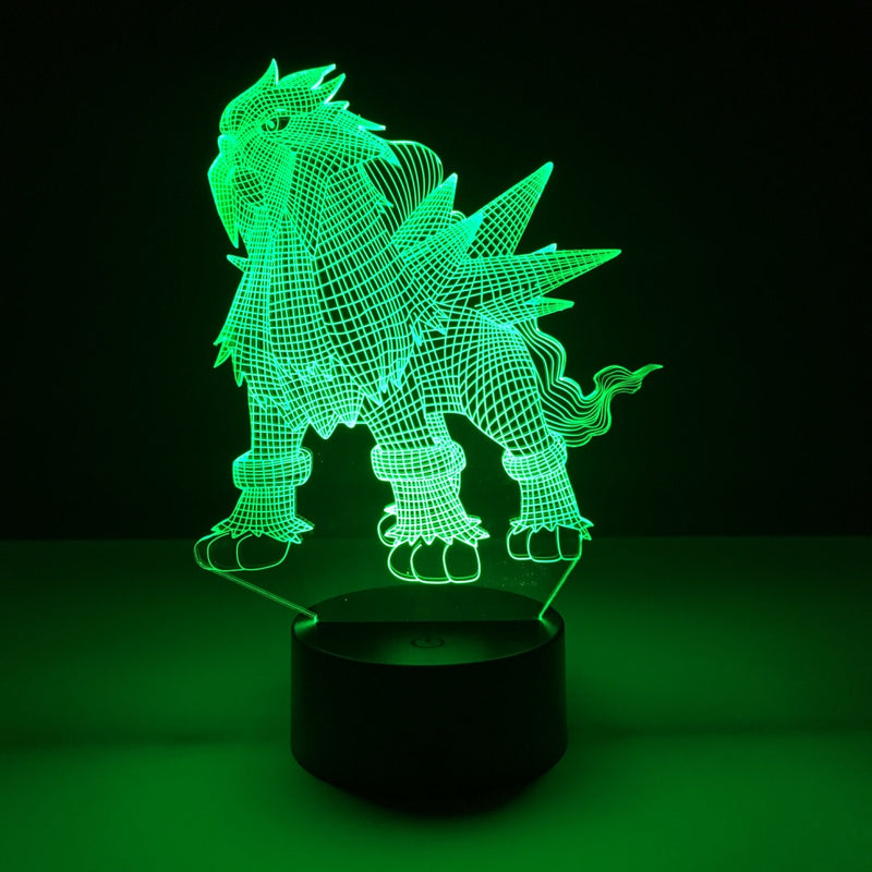pokemon entei led lamp night light