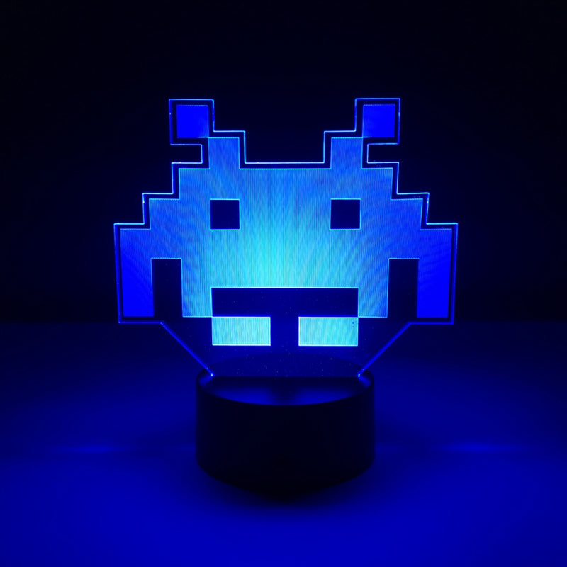 space invaders led lamp night light