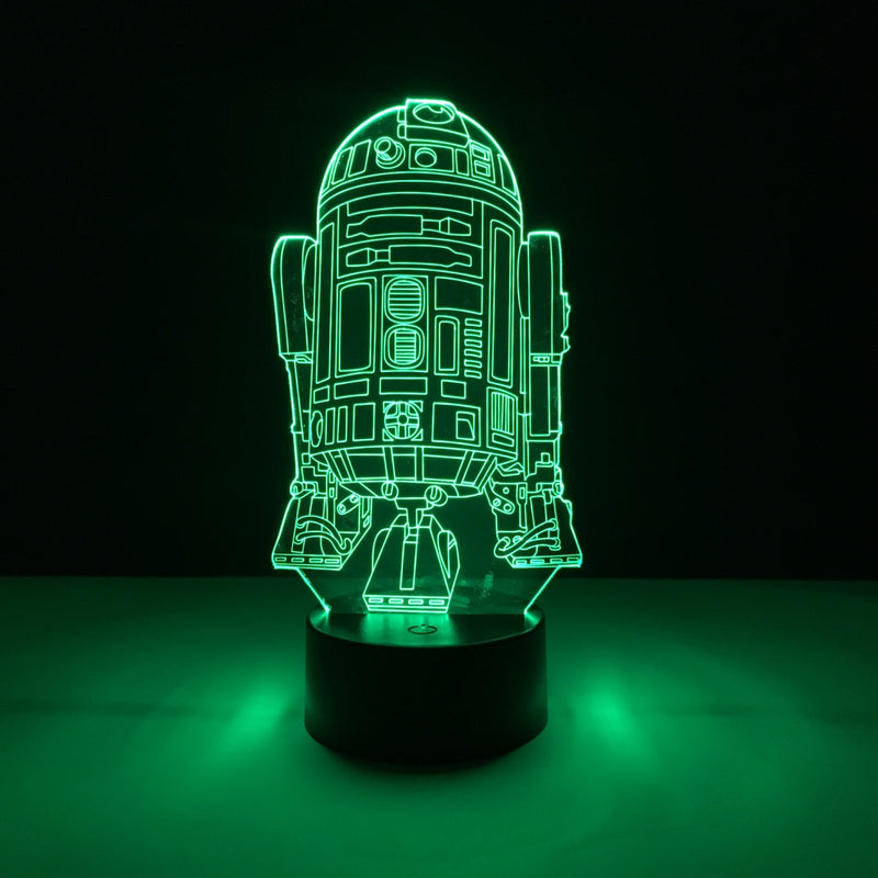 star wars r2d2 led lamp night light