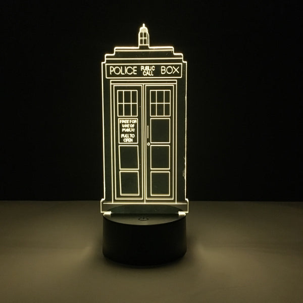 doctor who tardis led lamp night light