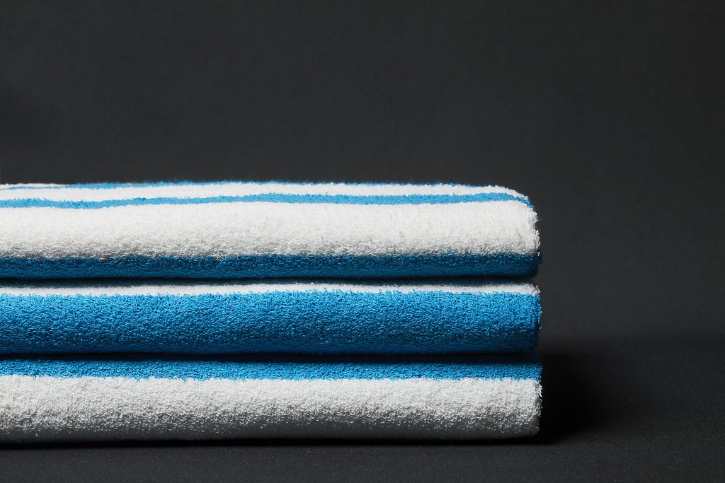 Ocean Stripe Pool Towel