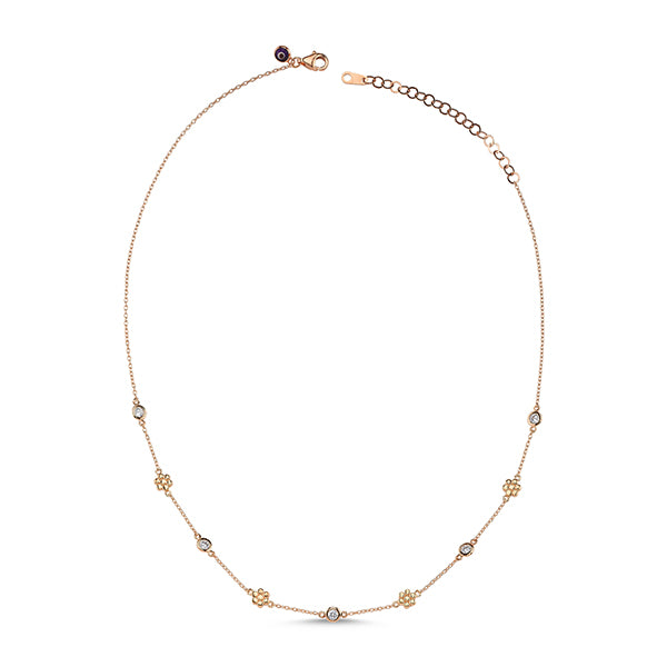Integrated Daisy and Stone Choker