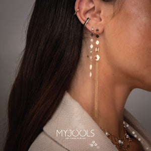 Pearl and Pave Long Statement Earring