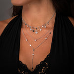Load image into Gallery viewer, Pave Asymmetrical Shakira Necklace