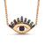 Full Stone Blinking Eye Necklace