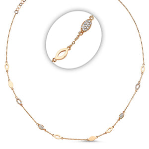Marquis Geometric Pave Stacking Necklace