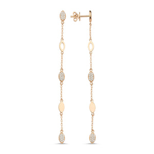 Marquis Drop Chain Earring