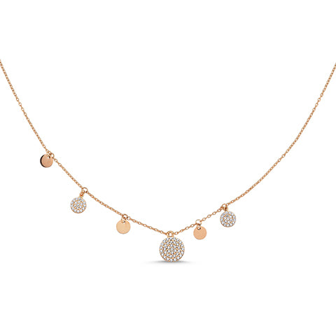 Pave Asymmetrical Shakira Necklace
