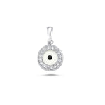 Load image into Gallery viewer, Evil Eye  Diamond Necklace