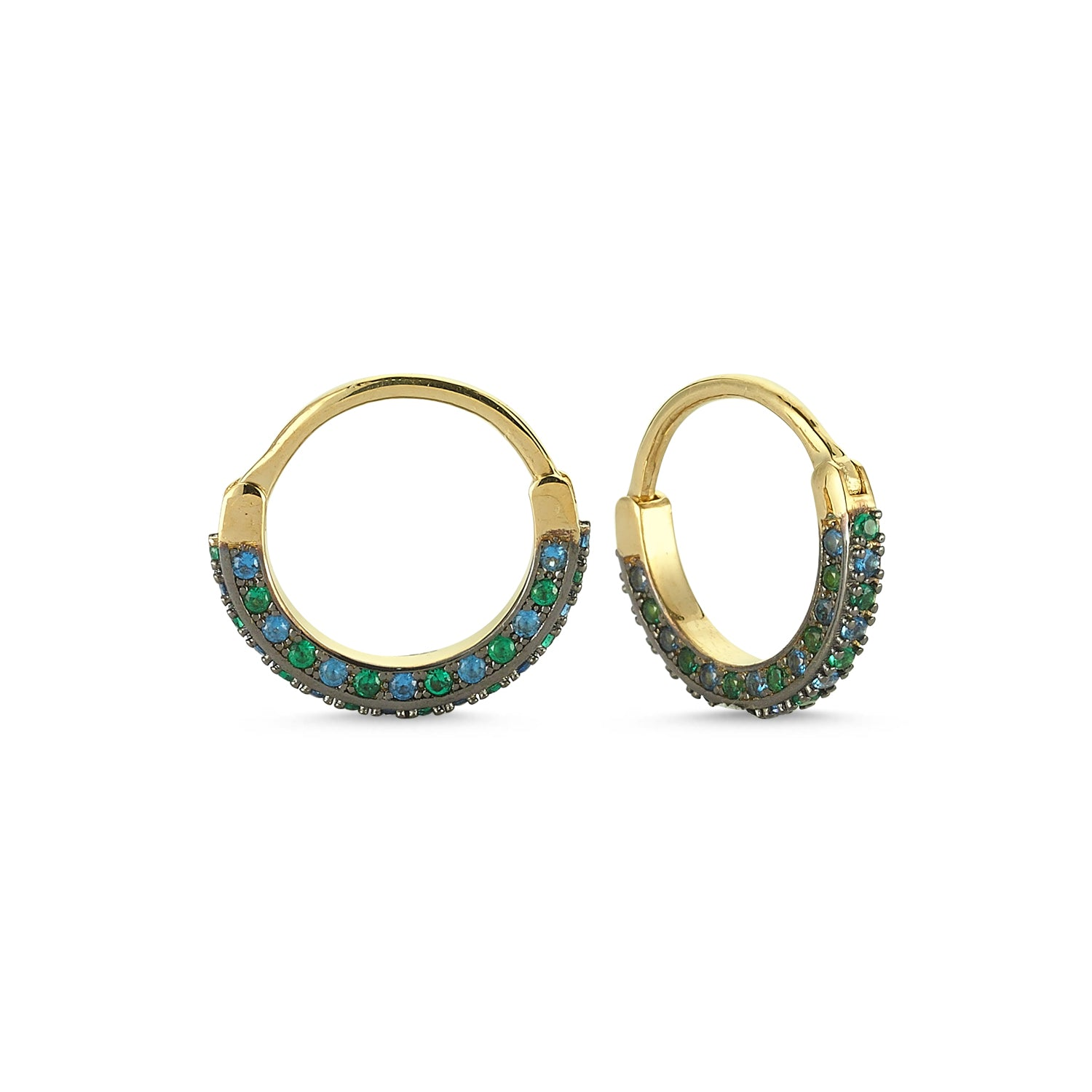 Double Sided Pave Hoop (large)