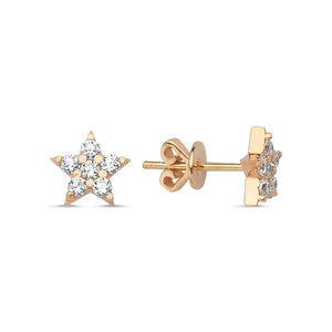 Large Pave Shooting Star Stud