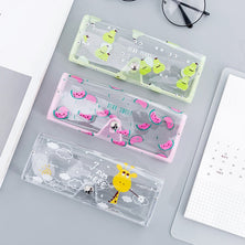 Transparent PVC Eye Glasses Cosmetic Makeup  Earphone Organizer Bag Case