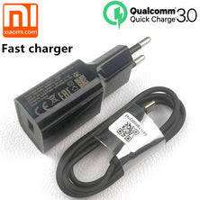 Original xiaomi Fast charger EU QC 3.0 quick charge usb type C cable for mi 9 8 se mi6 a1 a2 mix max 2 3 mi8 6 redmi note 7