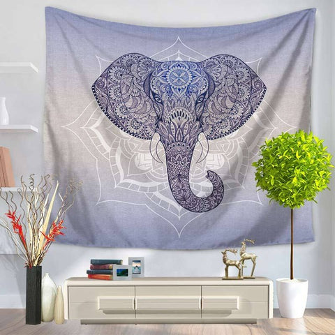 Royal Blue Mandala Elephant