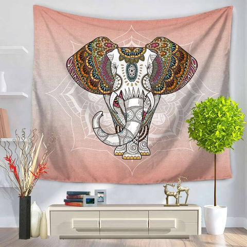 White Elephant with Mandala Ears