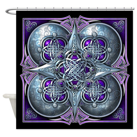 Silver and Purple Celtic Knots